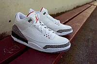 Мужские кроссовки Air Jordan 3 Retro White grey