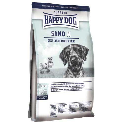 Сухой корм HAPPY DOG диета SANO N для собак, при болезнях почек, печени и сердца, 7,5кг