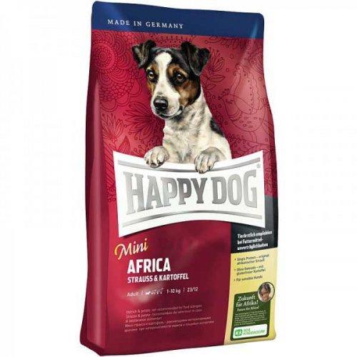 Сухой корм HAPPY DOG  Mini  AFRICA для собак малых пород, без злаков, 4кг