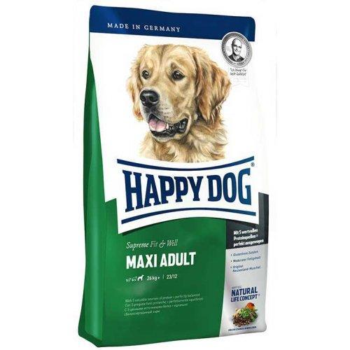 Сухой корм HAPPY DOG  F&W Maxi Adult для взрослых собак крупных пород, 15кг
