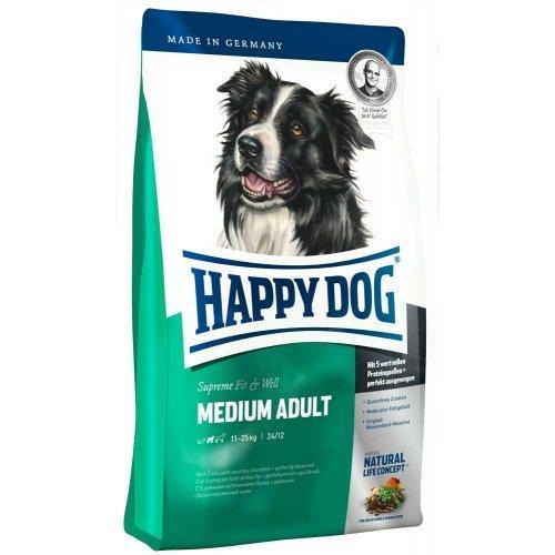 Сухой корм HAPPY DOG F&W medium Adult Supremeдля взрослых собак средних пород, 4 кг