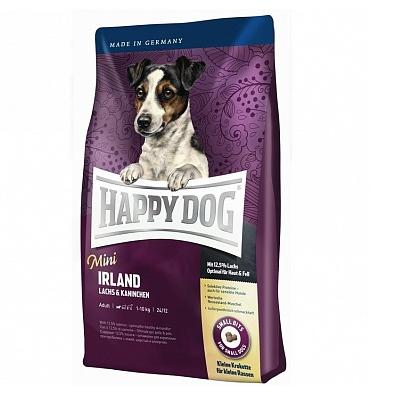Happy Dog Mini Irland сухой корм для маленьких пород собак, лосось, кроль, 4кг