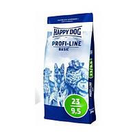 HAPPY DOG PROFI - LINE Basic корм для собак с пониженной активностью, избыточным весом, старше 7 лет, 20кг