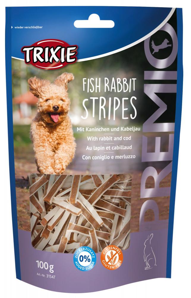 Trixie TX-31547 PREMIO Fish Rabbit Stripes 100г - лакомство из мяса кролика и трески для собак