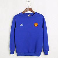 Футбольный свитшот (кофта) Манчестер Юнайтед-Адидас,  Manchester United, Adidas, синий, К4524