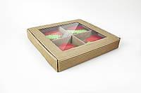 """Коробка """"Пряничная"""" М0044-о1 с перегородкой, фото 1"""