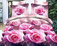 Двуспальный набор постельного белья 180*220 из Ранфорса №064 Черешенка™
