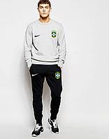 Спортивный костюм сборной Бразилии, Brazil, Nike, Найк, серо-черный, К4803
