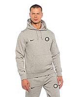 Спортивный костюм Интер, Inter, Nike, Найк, серый, с капюшоном, К4885