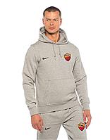 Спортивный костюм Рома, Roma, Nike, Найк, серый, с капюшоном, К4895