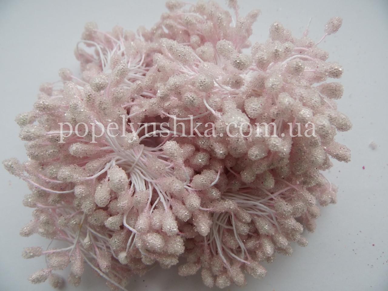 Тичинки цукрові  рожеві (на фото блідо-рожеві)