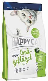 HAPPY СAT Senset Land-Gefluger корм для кошек с курицей, 4кг