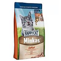 HAPPY СAT Minkas Gefluger корм для кошек с курицей, 10 кг