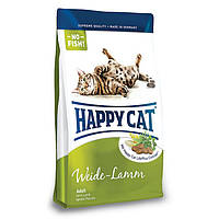 HAPPY СAT WEIDE LAMM сбалансированный сухой корм с пастбищным ягненком для взрослых кошек, 10 кг