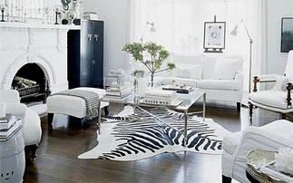 Фарбовані (стилізовані) шкури корів під зебру, тигра, ягуара, жирафа