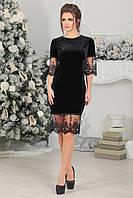 Бархатное Платье Ирени в черном цвете, фото 1