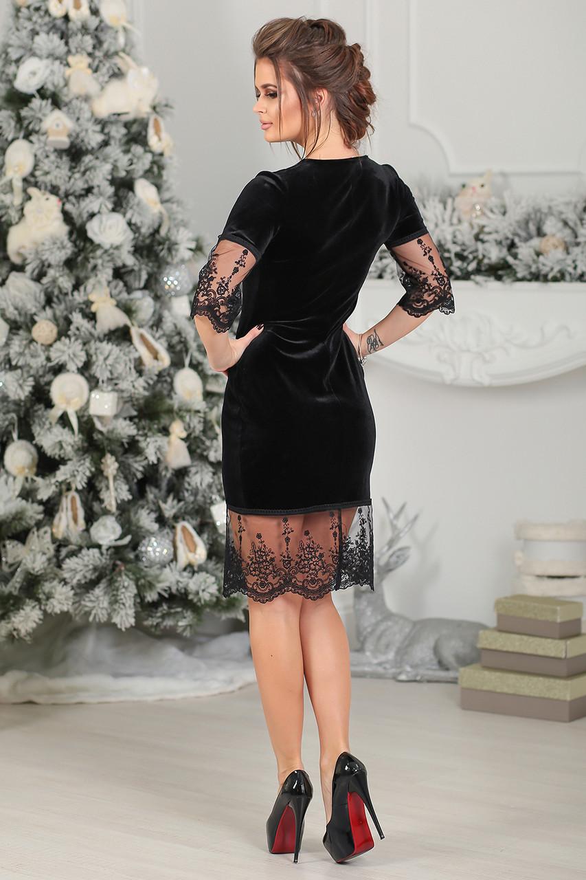 b210f1fd6cd Бархатное Платье Ирени в черном цвете