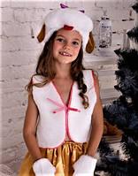 Детский новогодний костюм девочка собачка