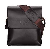 Мужская сумка барсетка через плечо Polo VICUNA  (коричневая)