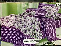 Двуспальное постельное бельё Сиреневый бант