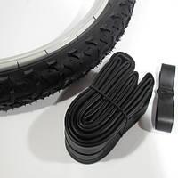 Велосипедный комплект резины 20 х 1.95 дюймов (покрышка, камера, флиппер)