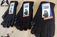 Перчатки для смартфонов (сенсорные перчатки), серия Tech Touch торговой марки Корона. Черные. Унисекс.