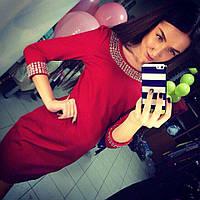 Женское  красное платье со стразами