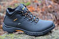 Зимние мужские ботинки, черные натуральная кожа, мех Gore-tex Харьков 2017 (Код: Ш898)
