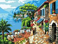 "Картина по номерам ""Кафе на берегу"", MG1051, 40х50см."