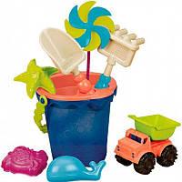Набор для игры с песком и водой ВЕДЕРЦЕ МОРЕ (9 предметов) Battat (BX1330Z)