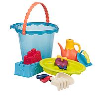 Набор для игры с песком и водой МЕГА-ВЕДЕРЦЕ МОРЕ (9 предметов) Battat (BX1444Z)
