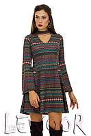 Ангоровое платье с этническим рисунком