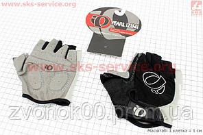 Велосипедные перчатки без пальцев L-черно-серые, с мягкими вставками под ладонь