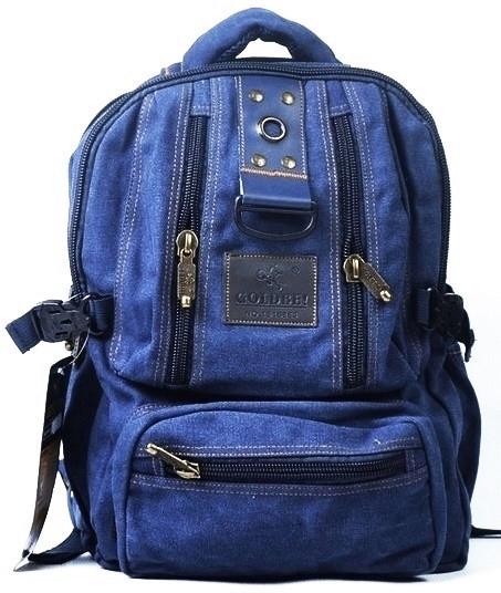 Рюкзак из холста GOLD BE. Городской рюкзак. Стильный рюкзак. Молодёжный рюкзак. Современные рюкзаки