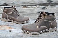Мужские зимние спортивные ботинки натуральная кожа коричневые, матовые Харьков (Код: Ш939а). Только 42р!
