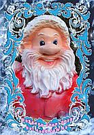 """Новогодняя скульптура """"Дед Мороз""""  50 см. Полистоун"""