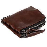Кожаный женский компактный кошелек Kafa (3325 brown)