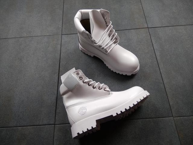 Ботинки в стиле Timberland 6 inch All White мужские тимберленд (Без ... dd2e603bec62a