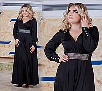 """Элегантное вечернее женское длинное платье в больших размерах 1021 """"Олимп"""" в расцветках, фото 1"""