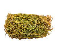 Древесная стружка Наполнитель для подарков, декора (деревянная шерсть) Оливковая 25 гр/уп