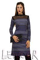 Ангоровое винтажное платье с принтом
