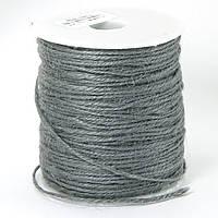 Бечевка декоративная, Цвет: Светло-серый, Размер: Толщина 2мм, около 100м/катушка, (УТ100009750)