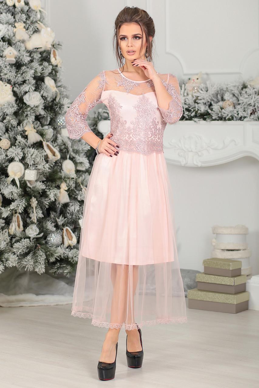 15c03ec17e474ce Вечернее Платье Каролин в цвете пудра - LILIT ODESSA оптово-розничный  магазин женской одежды в
