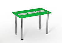 Стеклянный стол Трио грин