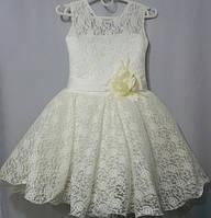 Кремовое бальное платье  6 7 лет