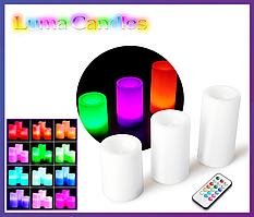 Светодиодные LED свечи Luma Candles с пультом..