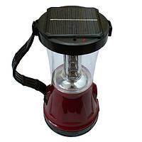 Кемпинговый фонарь с аккумулятором и солнечной панелью, фото 1