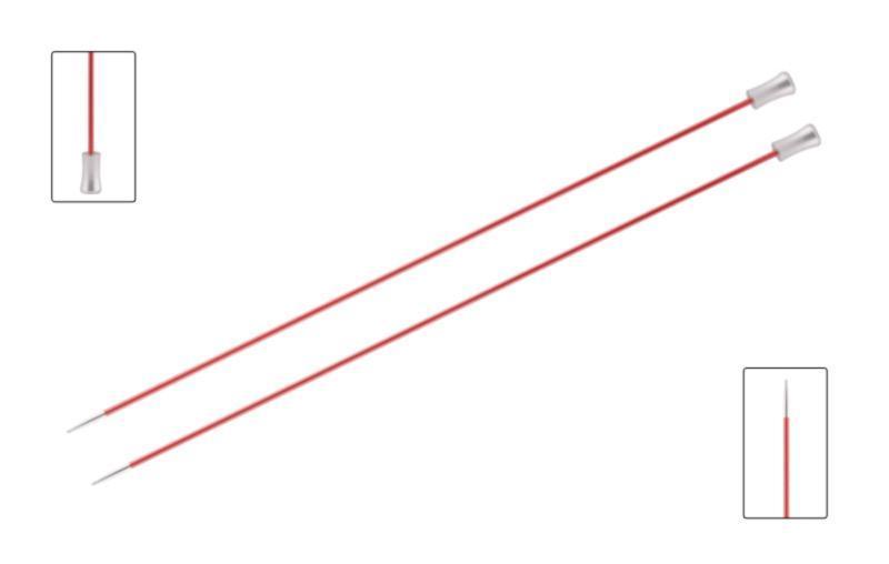Спицы прямые 25 см Zing KnitPro 6.50 мм