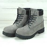 Ботинки в стиле Timberland Classic 6 inch Grey High Quality мужские  тимберленд (Иск. мех 77e7a5b2eb25b