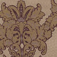 Коричневая жаккардовая ткань для штор и декора с узором дамаск MINIONS-01